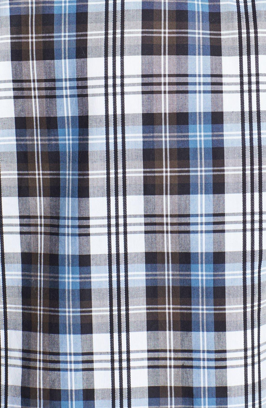 Alternate Image 3  - Michael Kors 'Crispin Check' Regular Fit Sport Shirt