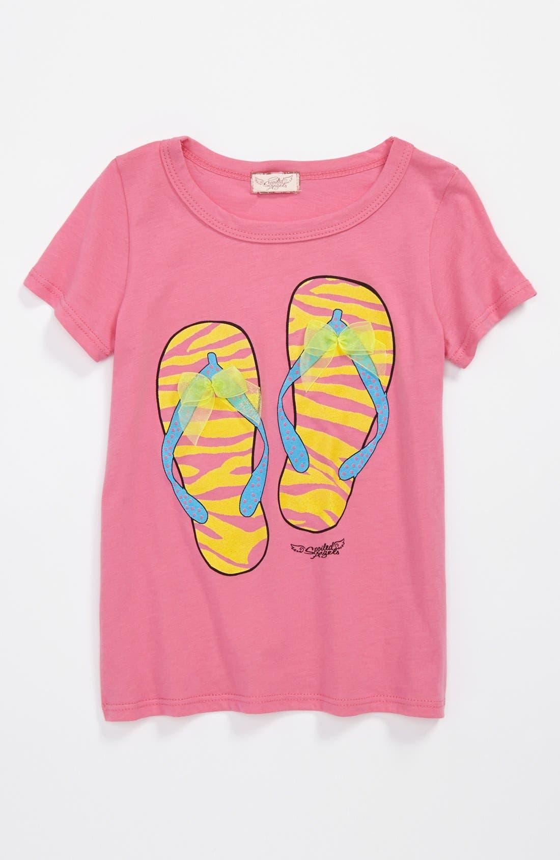 Alternate Image 1 Selected - Spoiled Angels 'Flip Flop' Tee (Toddler Girls)