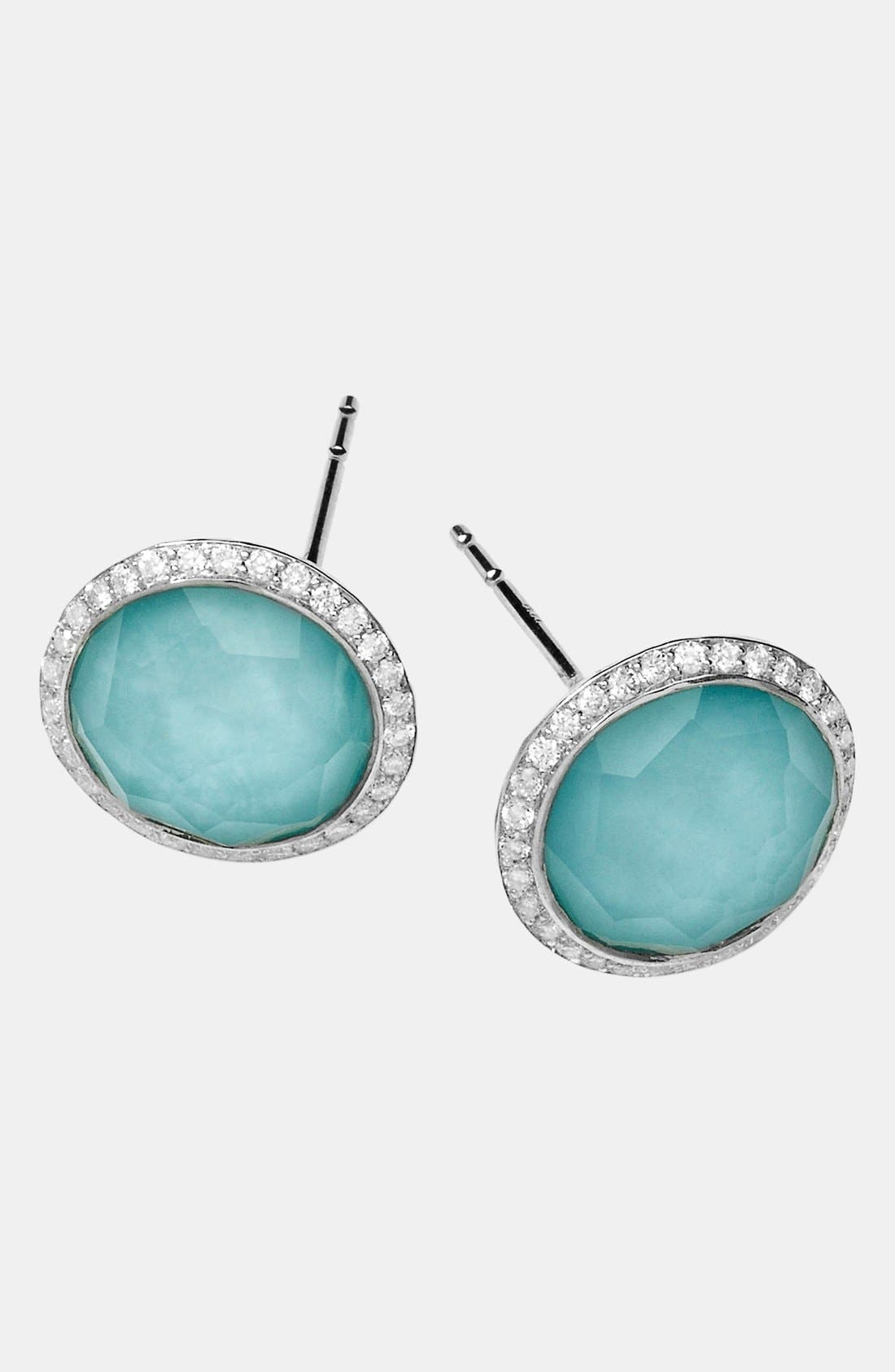Alternate Image 1 Selected - Ippolita 'Rock Candy - Stella' Diamond & Stone Stud Earrings