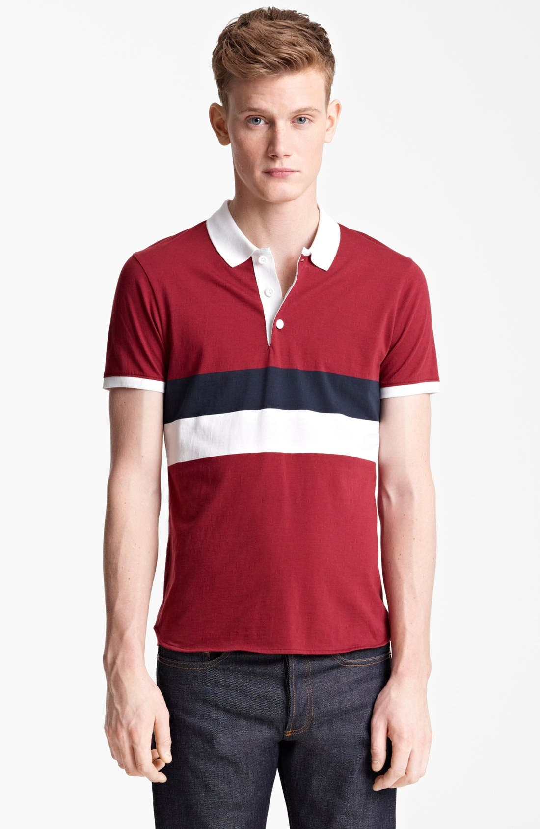 Alternate Image 1 Selected - Shipley & Halmos 'Broome' Stripe Jersey Polo