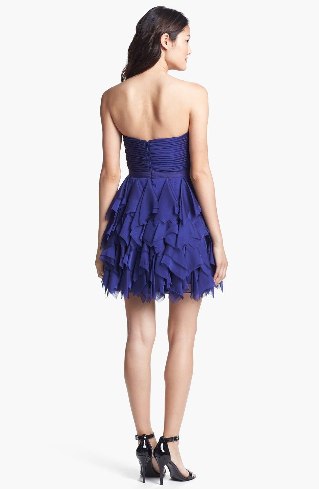 Alternate Image 3  - Adrianna Papell Ruffled Cocktail Dress