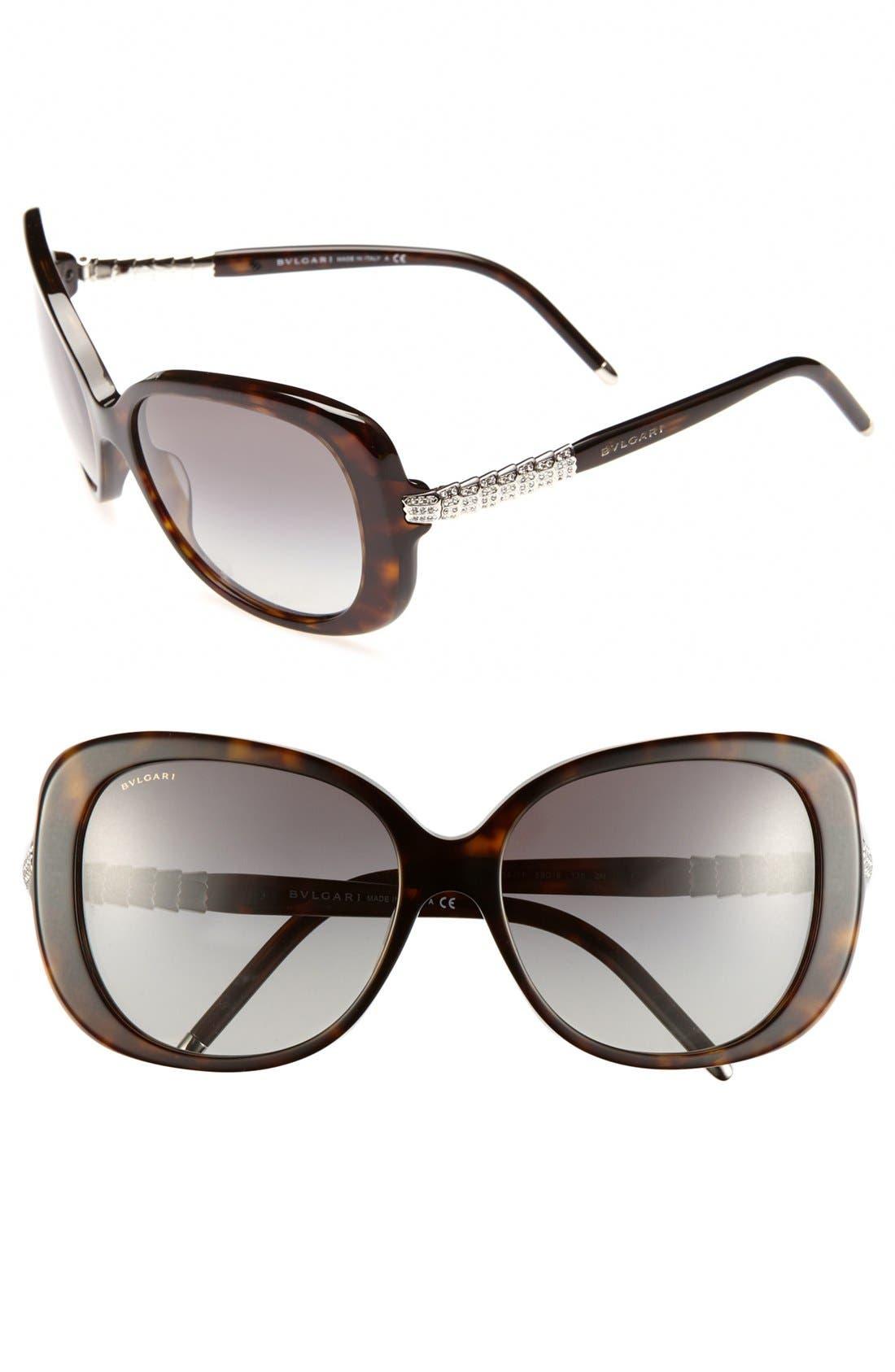 Main Image - BVLGARI 59mm Retro Sunglasses