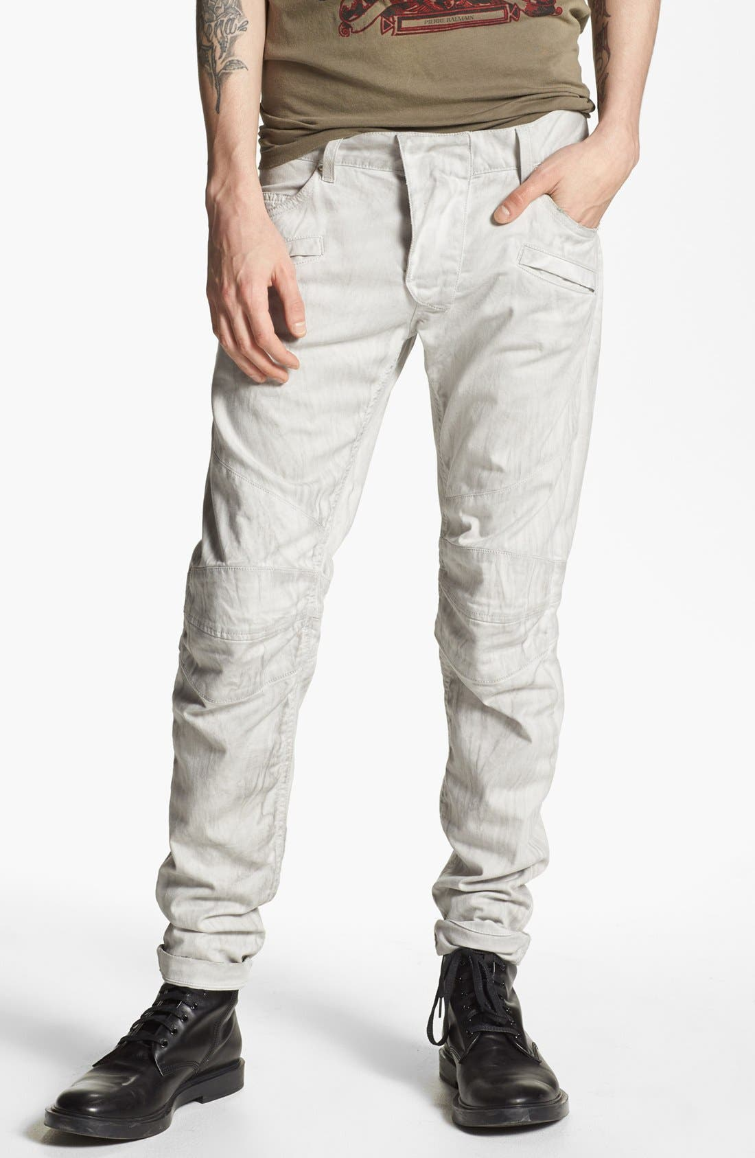 Main Image - Pierre Balmain Slim Fit Jeans (Off White) (Online Only)