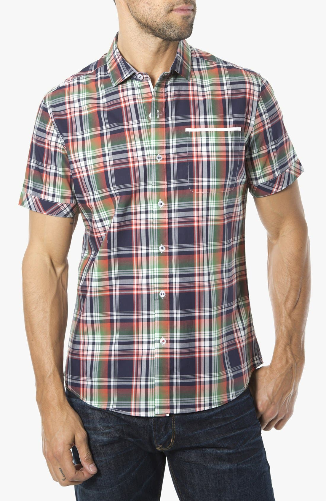 Alternate Image 1 Selected - 7 Diamonds 'Friend of Friends' Woven Short Sleeve Shirt