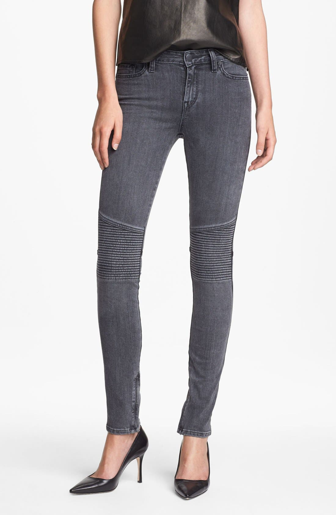 Alternate Image 1 Selected - Vince Ankle Zip Skinny Stretch Jeans