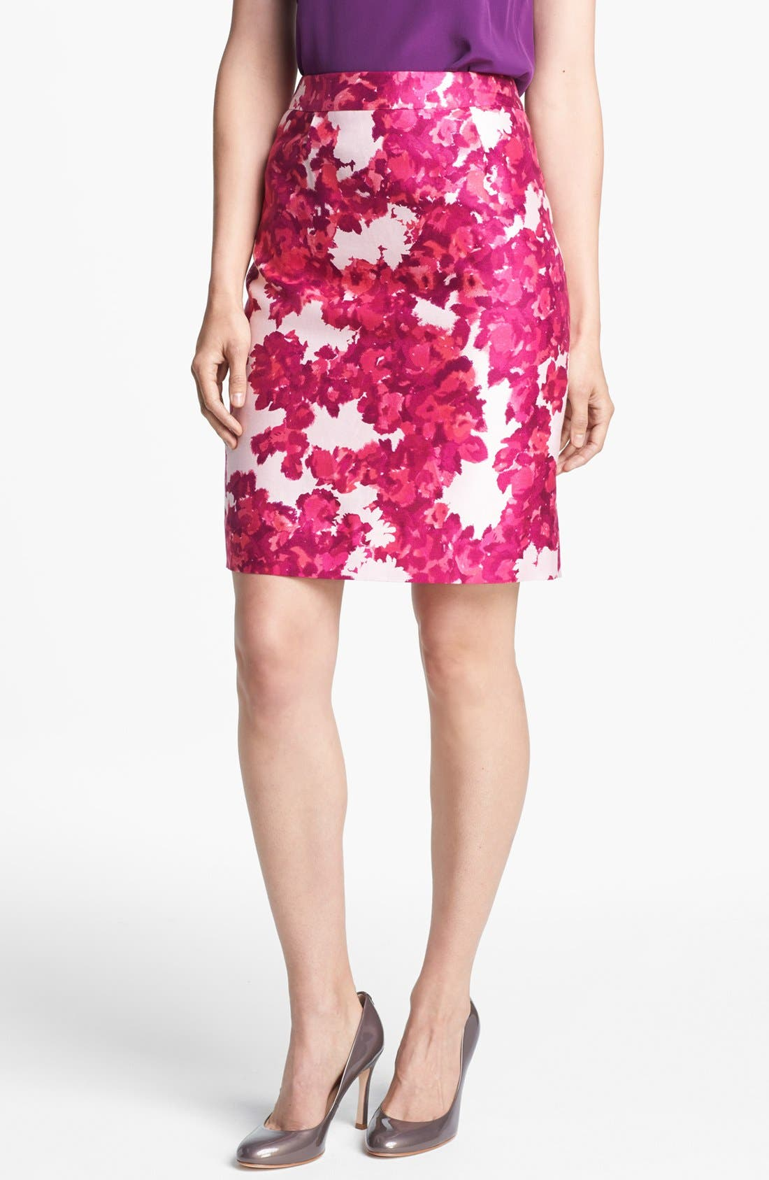 Main Image - kate spade new york 'jordan' cotton & silk skirt