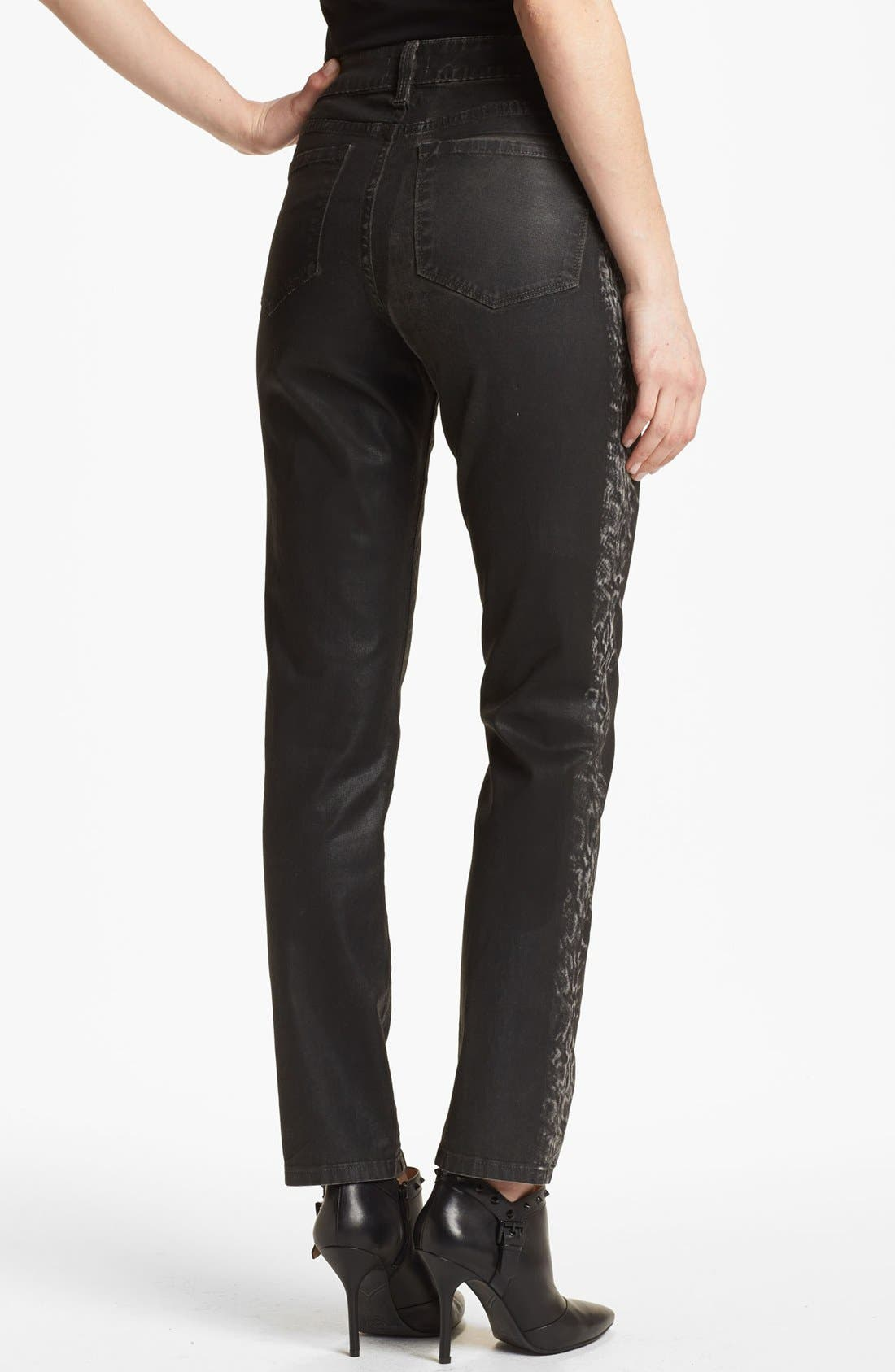 Alternate Image 3  - NYDJ 'Sheri' Tuxedo Stripe Coated Skinny Jeans (Regular & Petite)