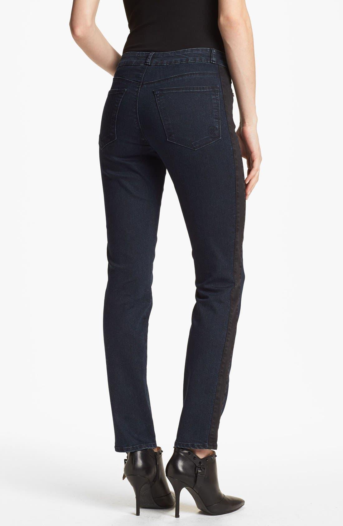 Alternate Image 2  - CJ by Cookie Johnson Track Stripe Skinny Jeans