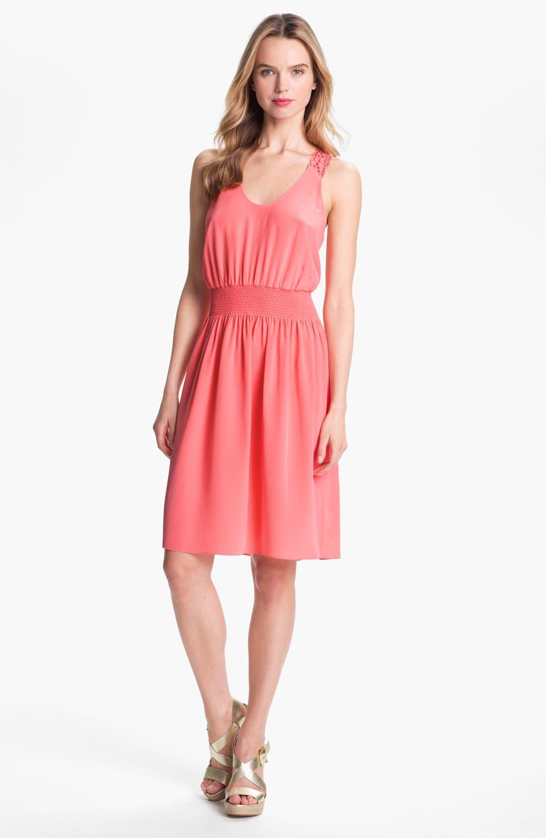 Alternate Image 1 Selected - Rebecca Taylor Silk Blouson Dress
