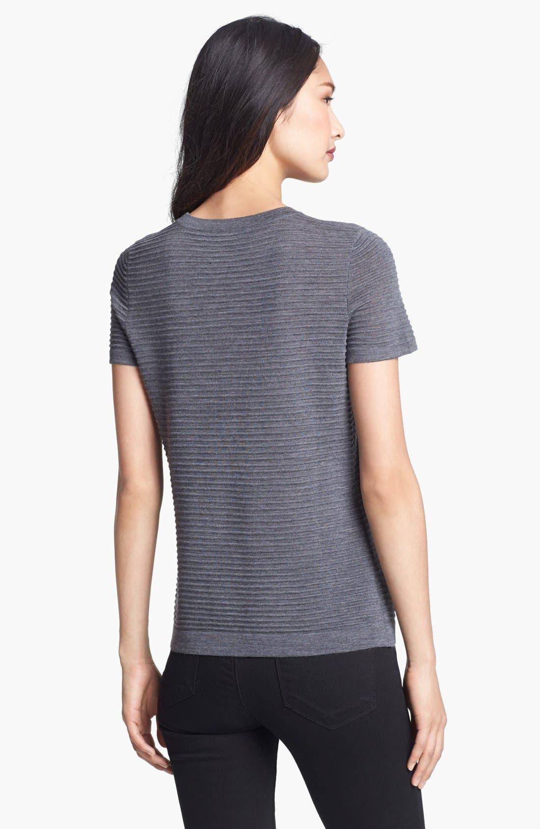 Alternate Image 2  - BOSS HUGO BOSS Textured Short Sleeve Top