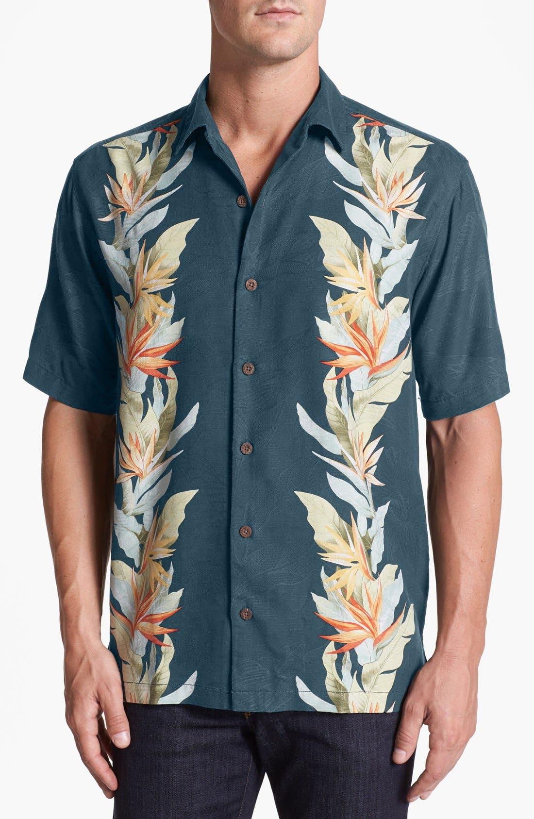 Main Image - Tommy Bahama 'Tropic of Parallel' Campshirt (Big & Tall)