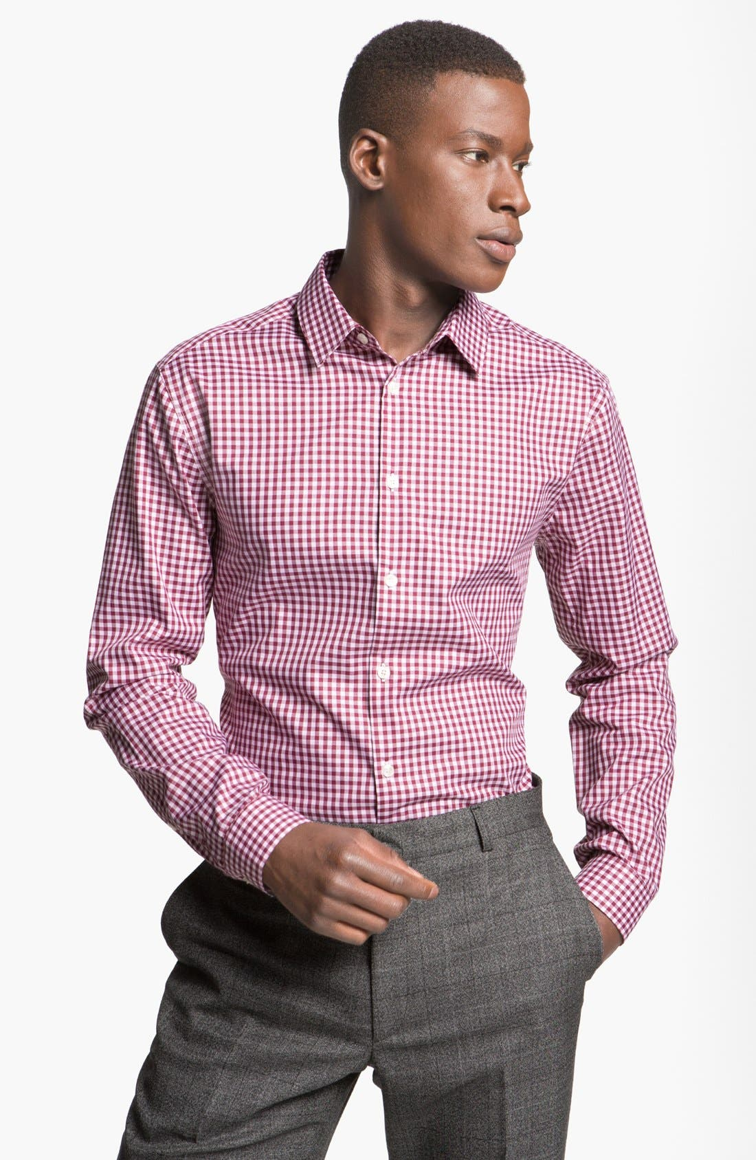 Alternate Image 1 Selected - Paul Smith London Slim Fit Check Dress Shirt