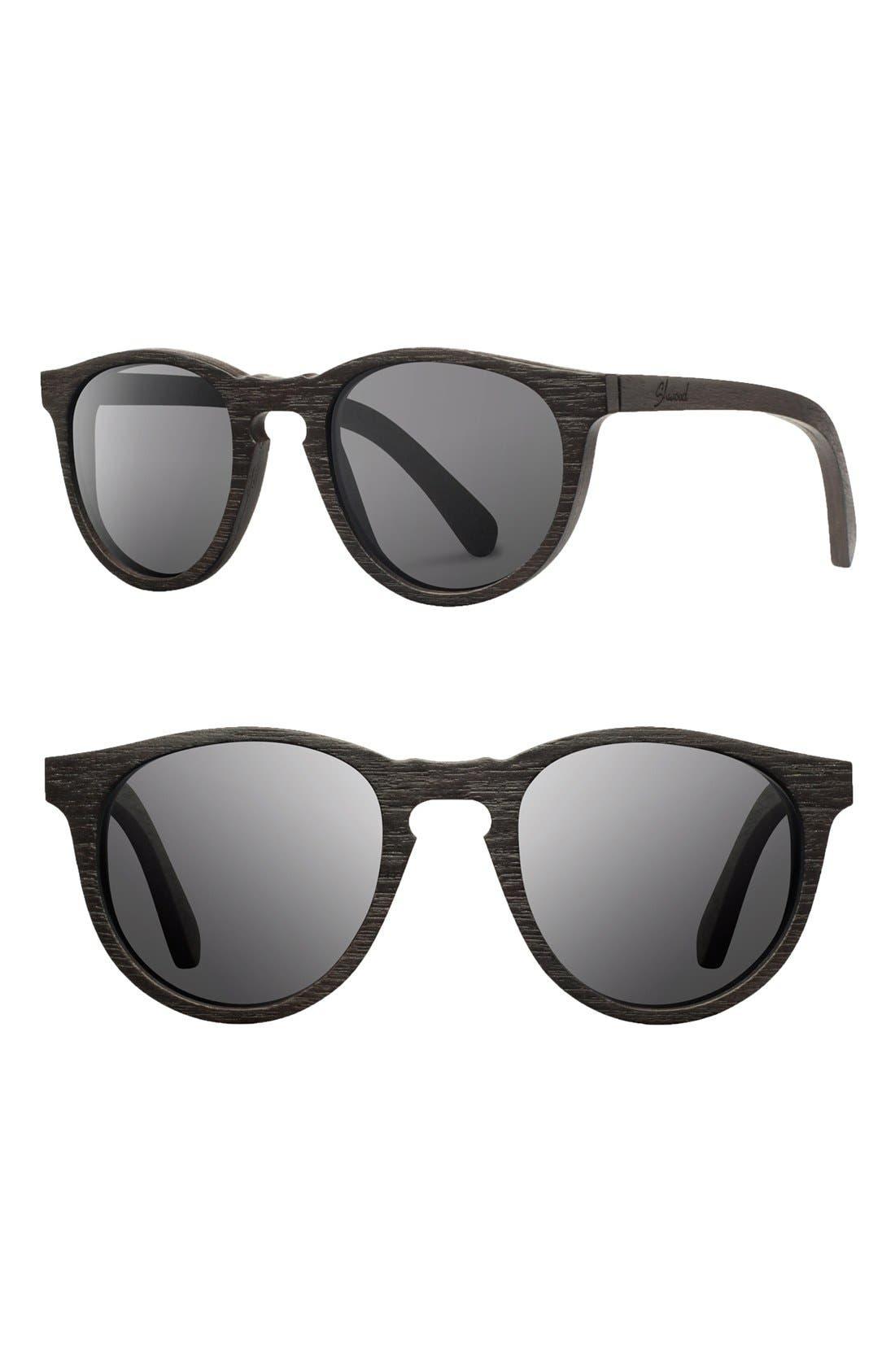 Shwood 'Belmont' 48mm Polarized Wood Sunglasses