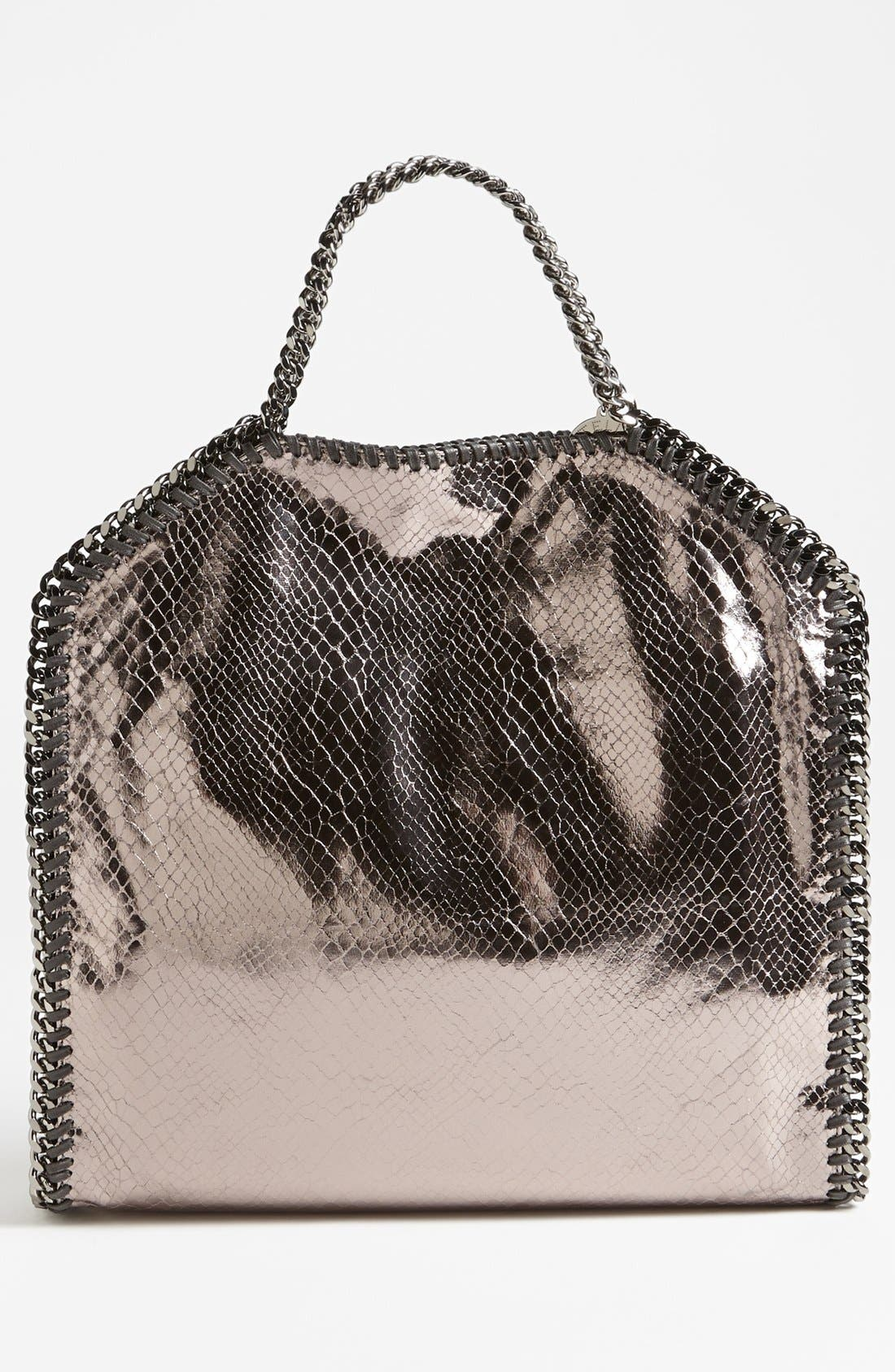 Alternate Image 4  - Stella McCartney 'Falabella' Metallic Snake Print Foldover Tote, Small