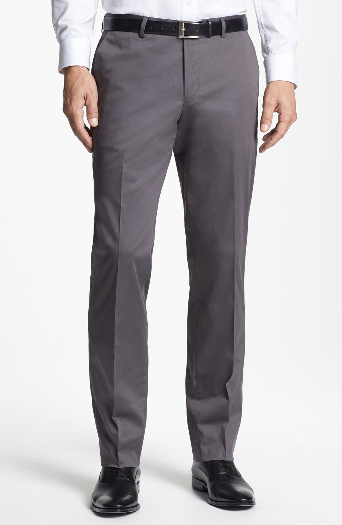 Alternate Image 1 Selected - BOSS HUGO BOSS 'Sharp' Cotton Trousers