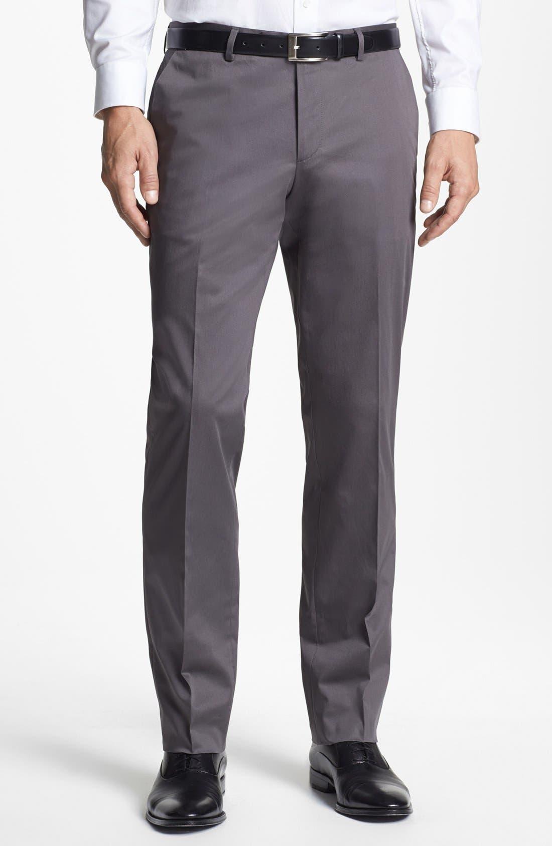 Main Image - BOSS HUGO BOSS 'Sharp' Cotton Trousers