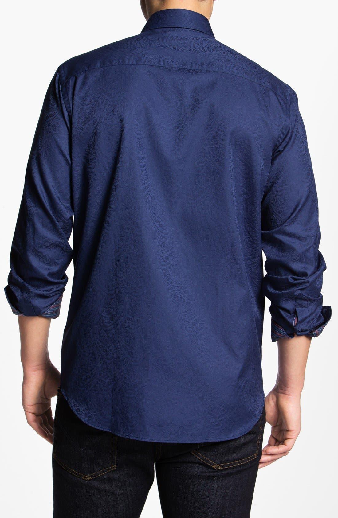 Alternate Image 2  - Bugatchi Paisley Classic Fit Cotton Sport Shirt