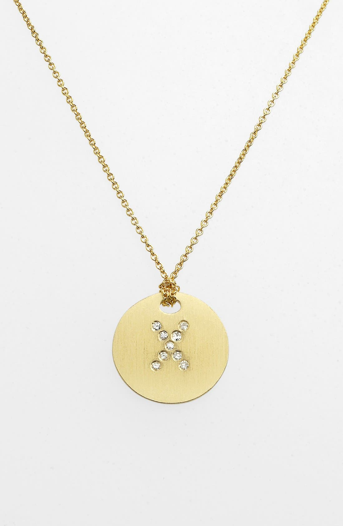 Main Image - Roberto Coin 'Tiny Treasures' Diamond Initial Disc Pendant Necklace
