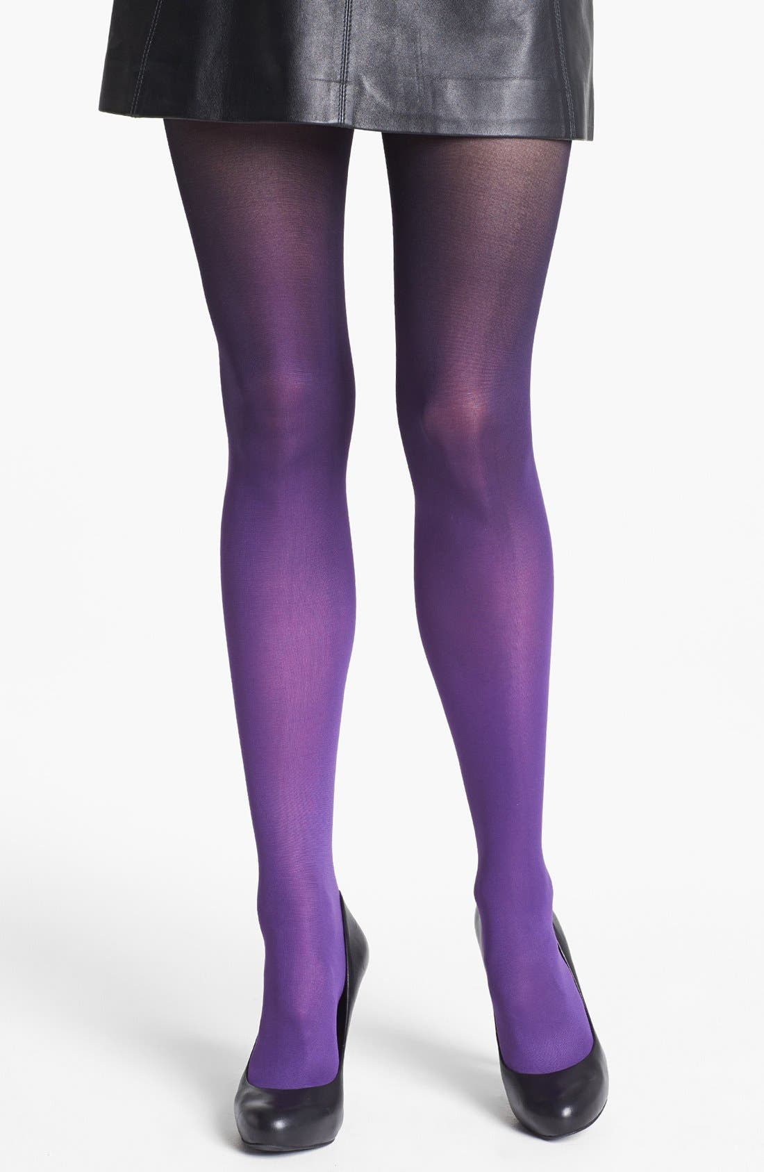 Alternate Image 1 Selected - DKNY Ombré Tights