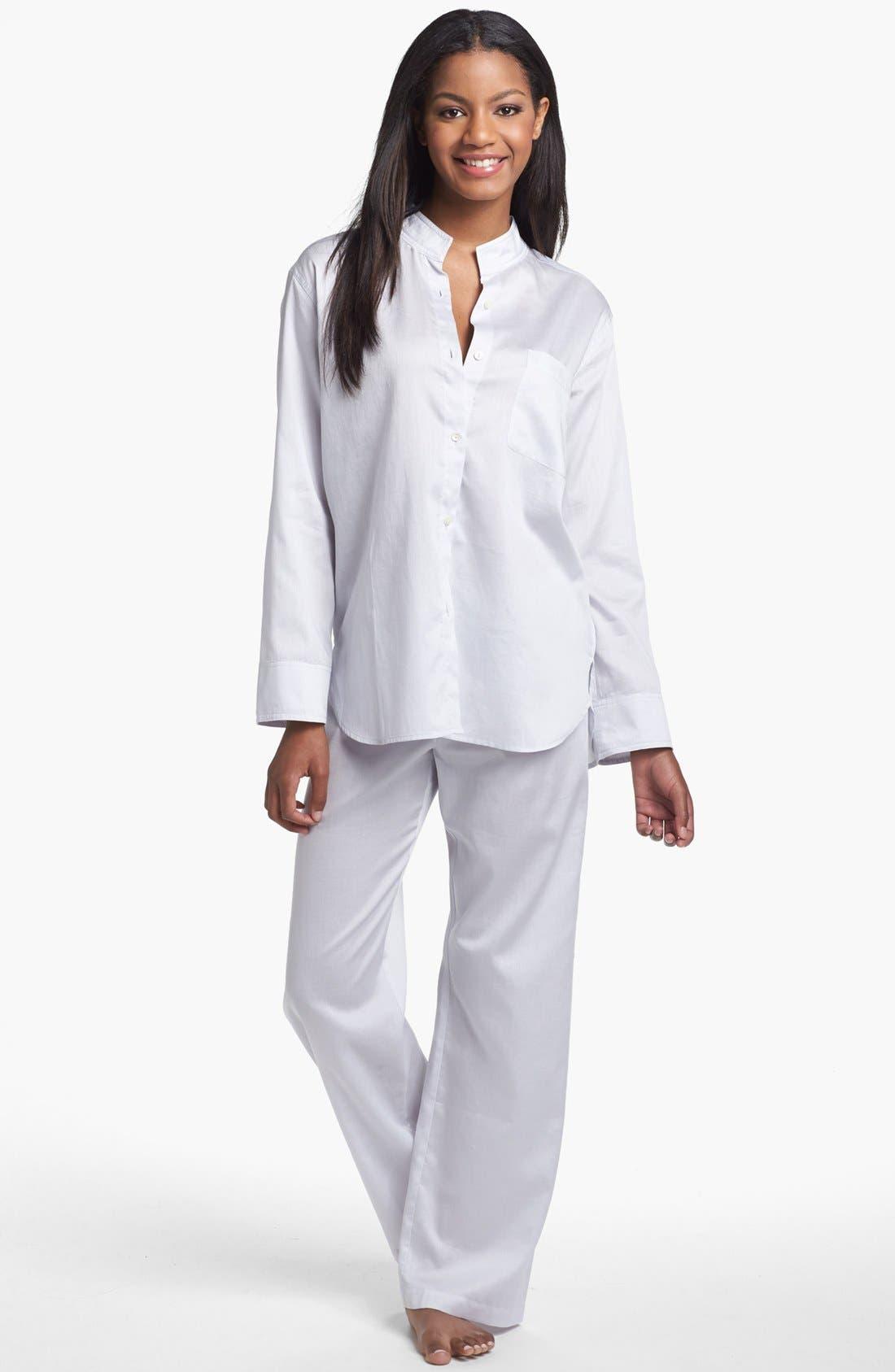 Alternate Image 1 Selected - Donna Karan Woven Cotton Pajamas