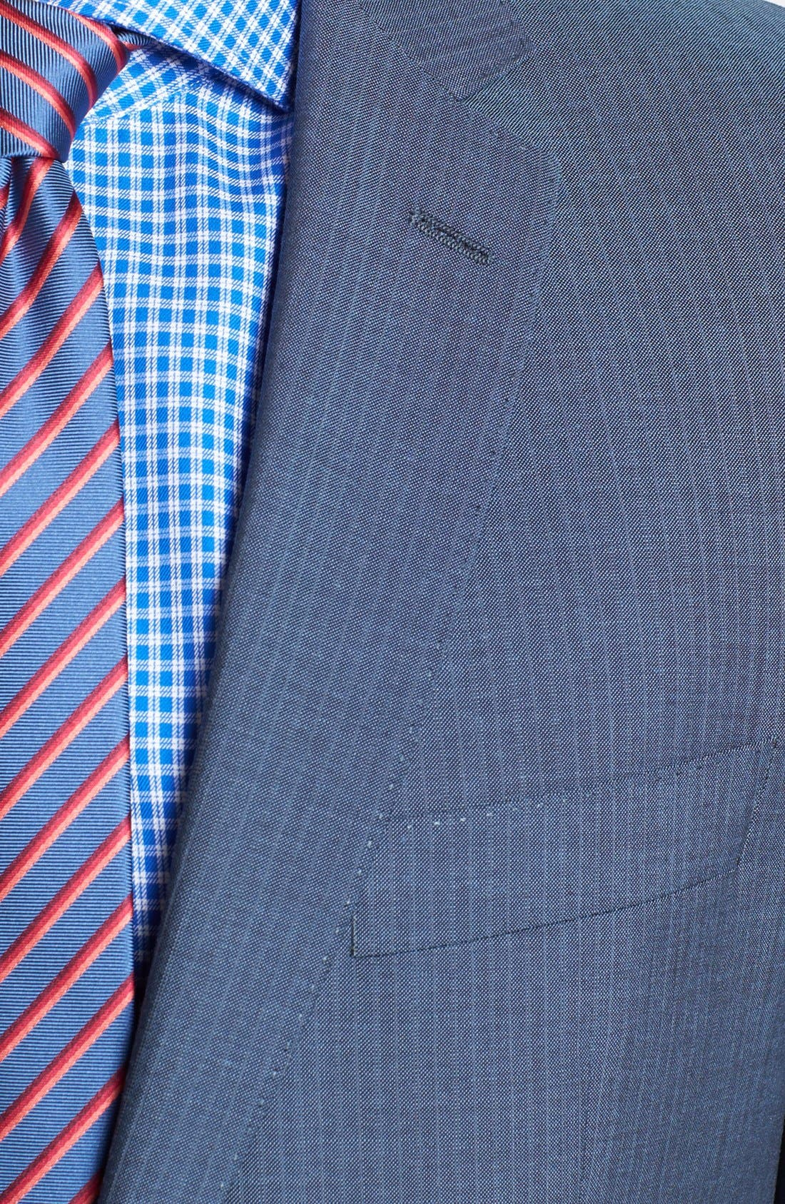 Alternate Image 2  - BOSS HUGO BOSS 'Edison/Power' Classic Fit Stripe Suit