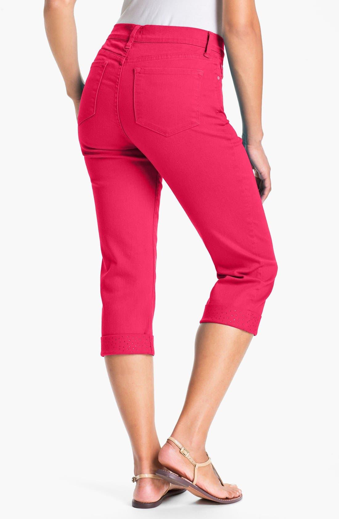 Alternate Image 2  - NYDJ 'Alyssia' Embellished Crop Jeans (Petite)