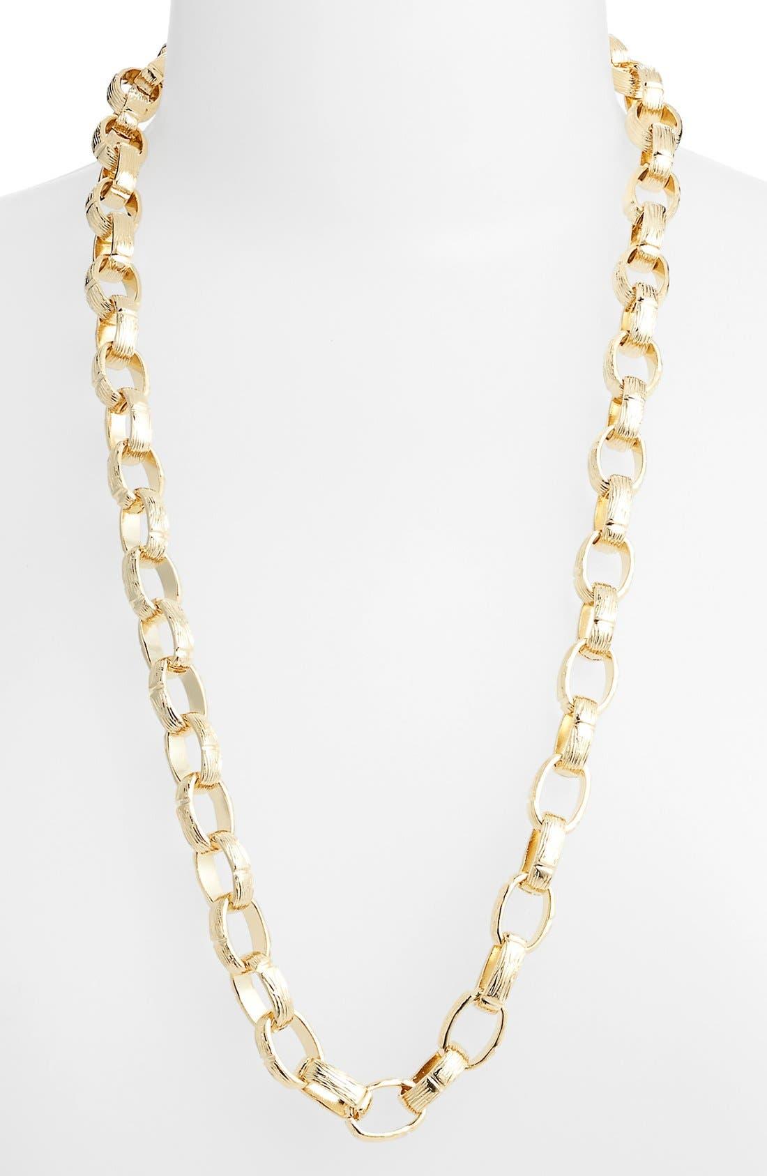 Alternate Image 1 Selected - Nordstrom Long Textured Link Necklace