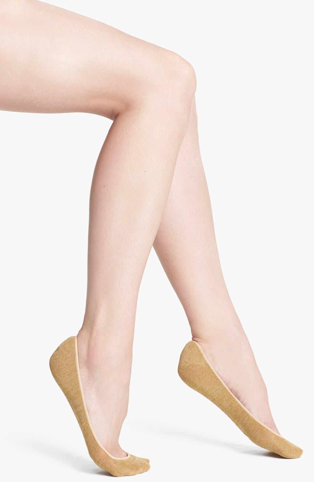 Main Image - Hue 'Shine' Liner Socks
