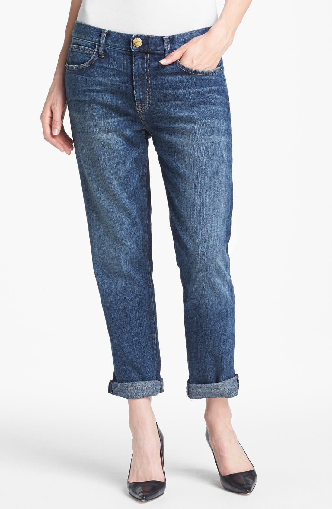 Main Image - Current/Elliott 'The Fling' Rolled Jeans (Loved)