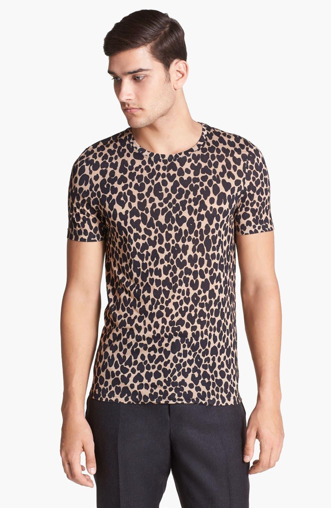 Main Image - Burberry Prorsum Leopard Print T-Shirt