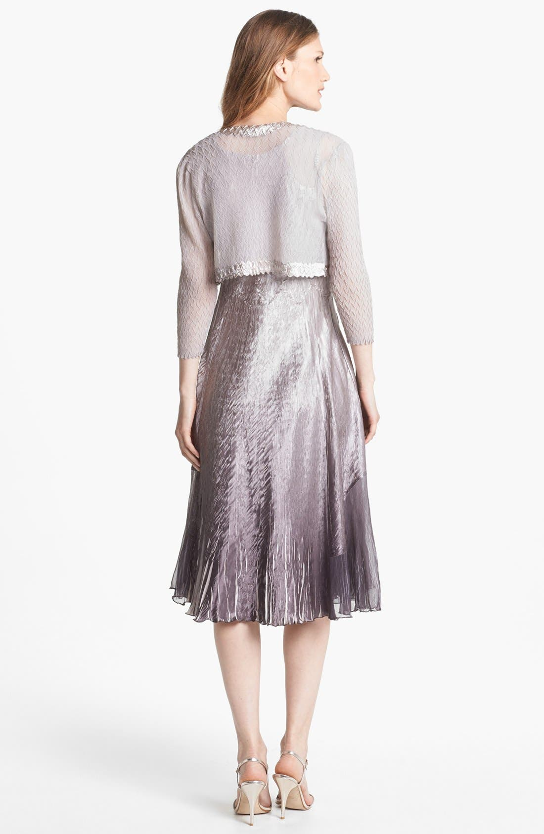 Alternate Image 2  - Komarov Embellished Charmeuse Dress & Bolero (Petite)