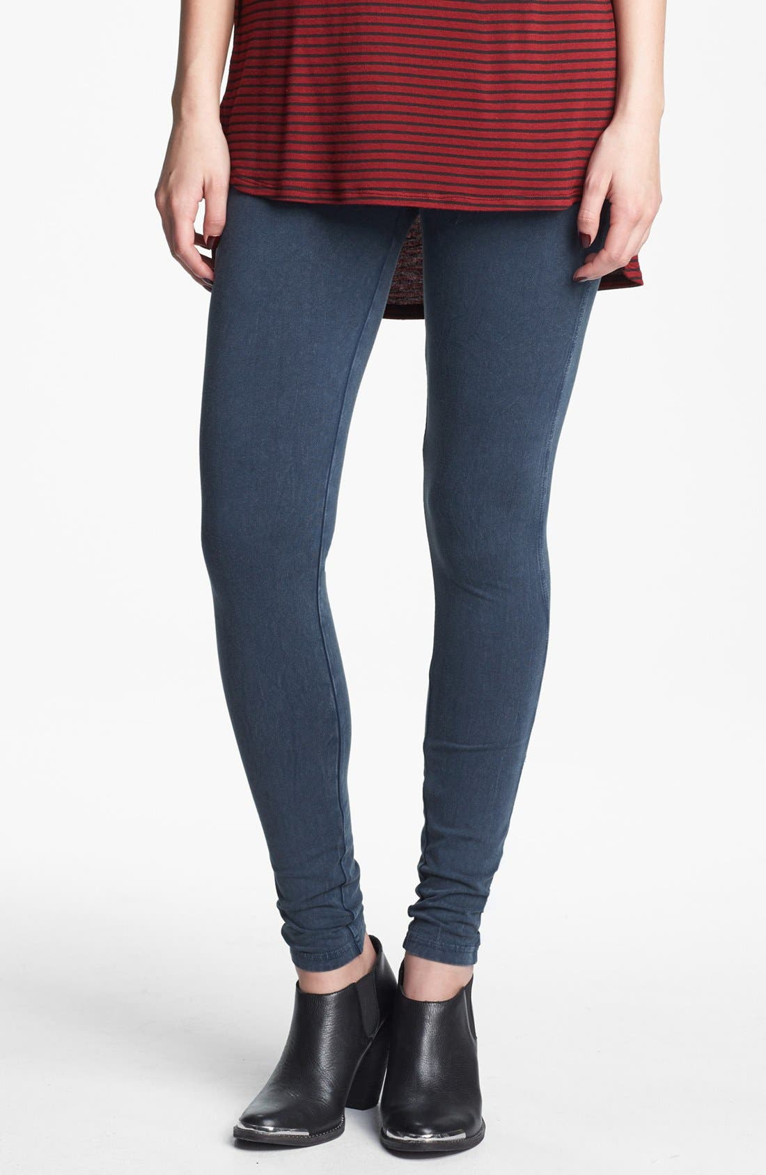 Alternate Image 1 Selected - Rubbish® Acid Wash Leggings (Juniors)