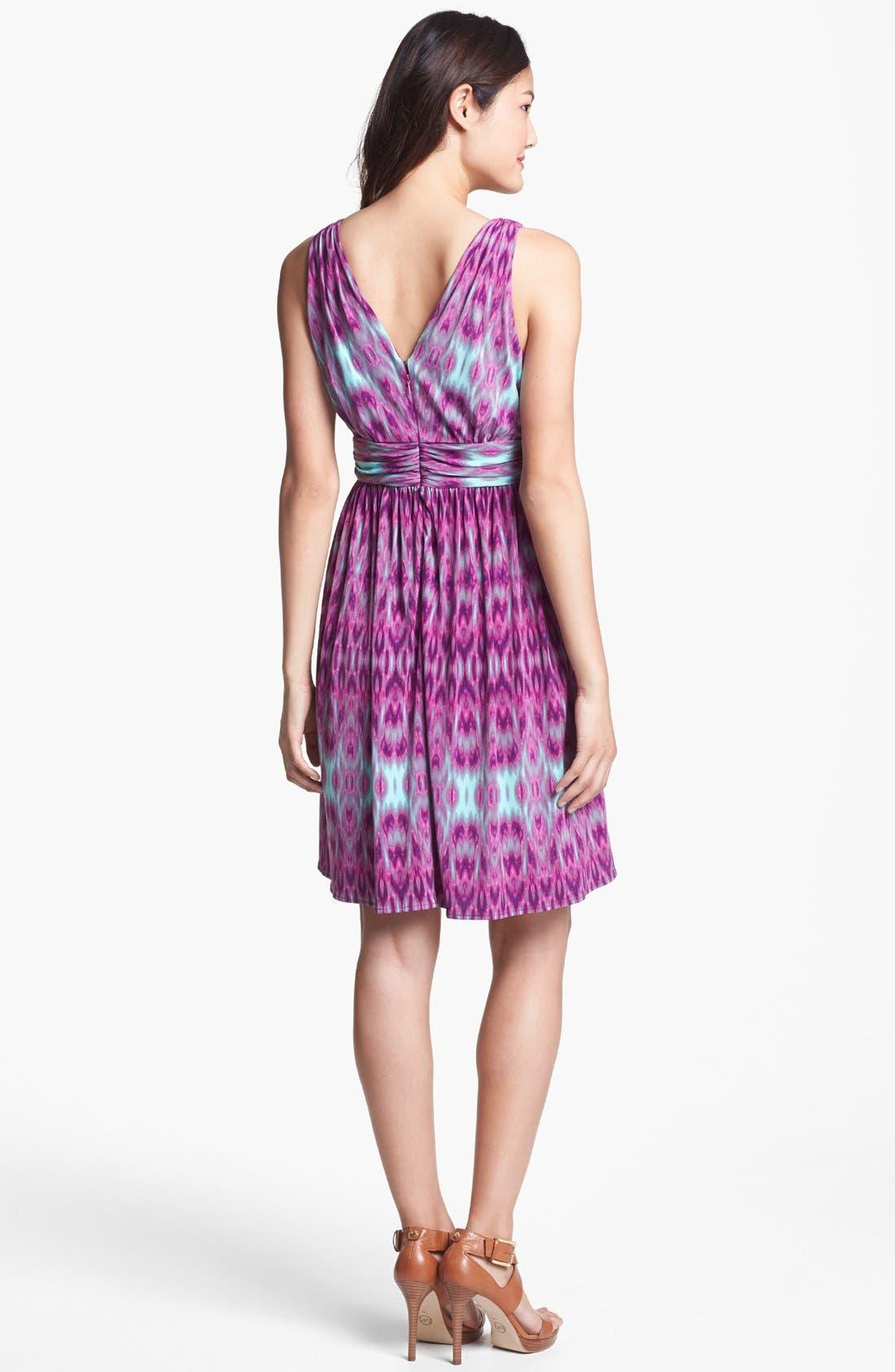 Alternate Image 2  - Ivy & Blu Print Fit & Flare Dress