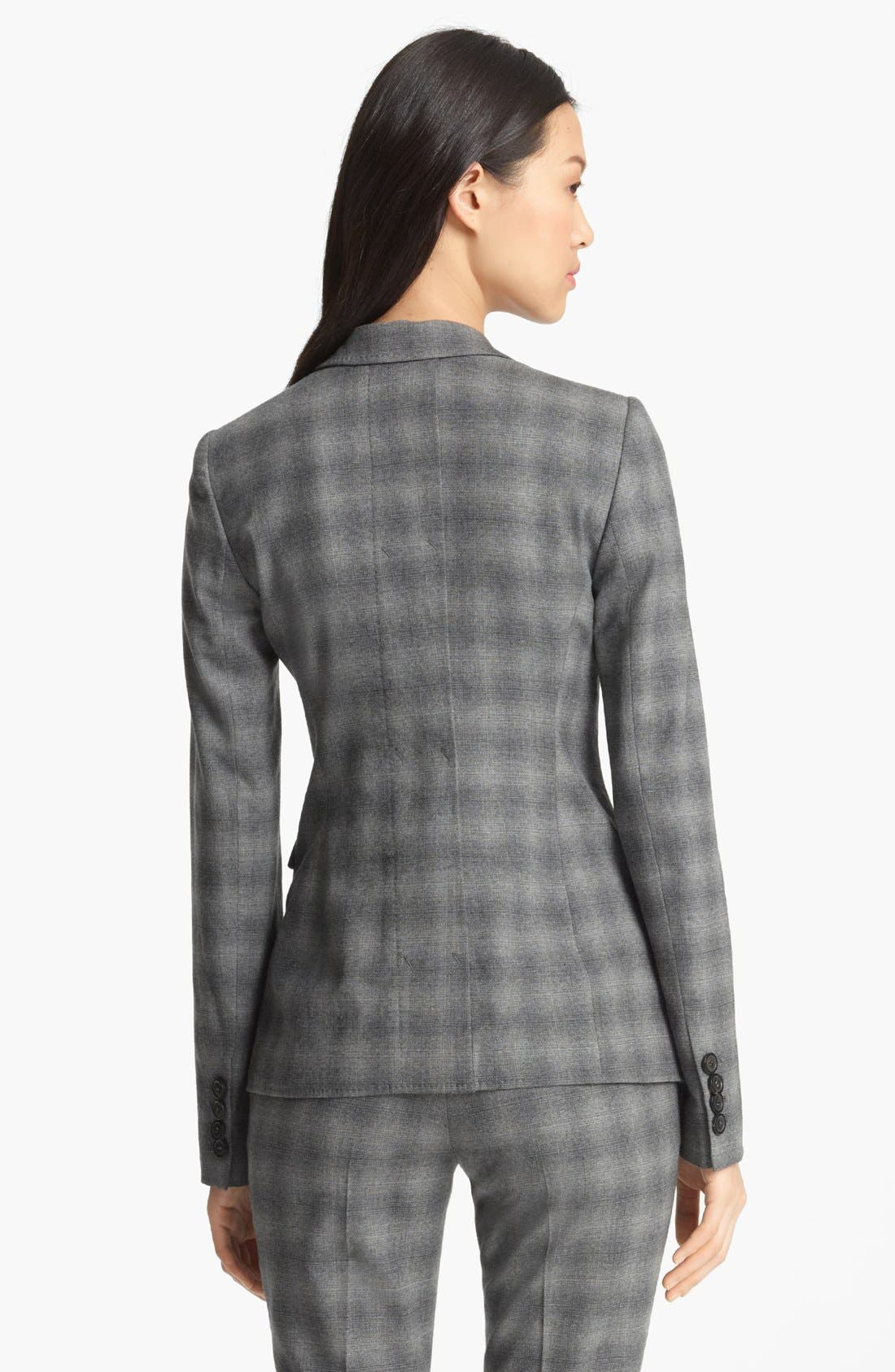 Alternate Image 3  - Armani Collezioni Shadow Stripe Stretch Wool Jacket