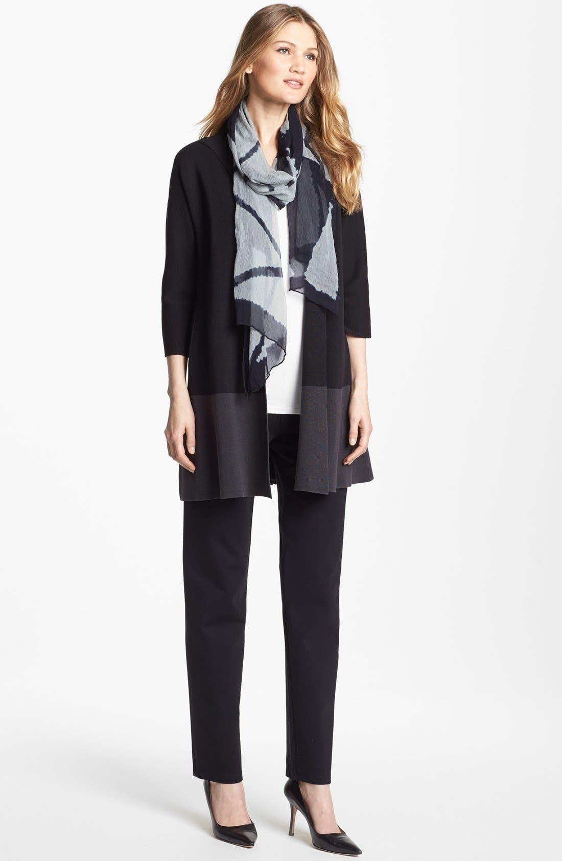 Alternate Image 3  - Eileen Fisher Colorblock Silk & Cotton Jacket