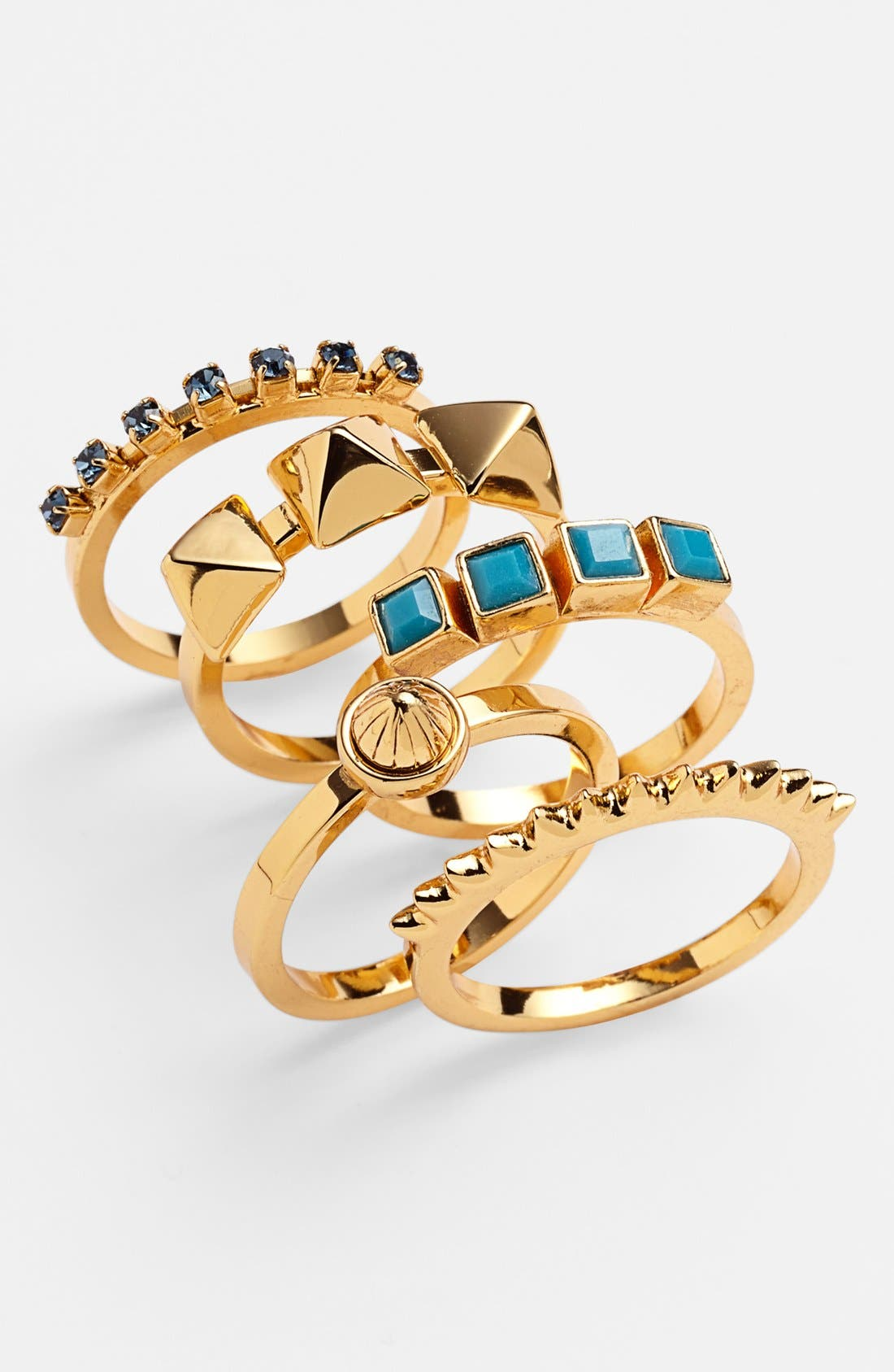 Main Image - Vince Camuto Stackable Rings (Set of 5)