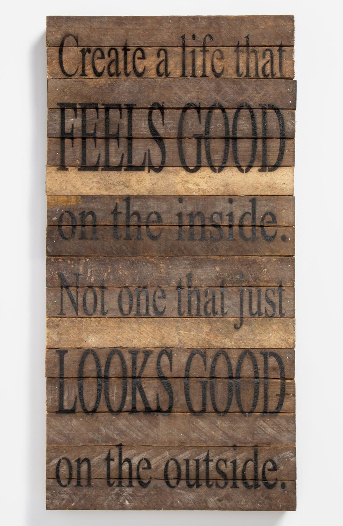Alternate Image 1 Selected - 'Create a Life that Feels Good' Wood Wall Plaque