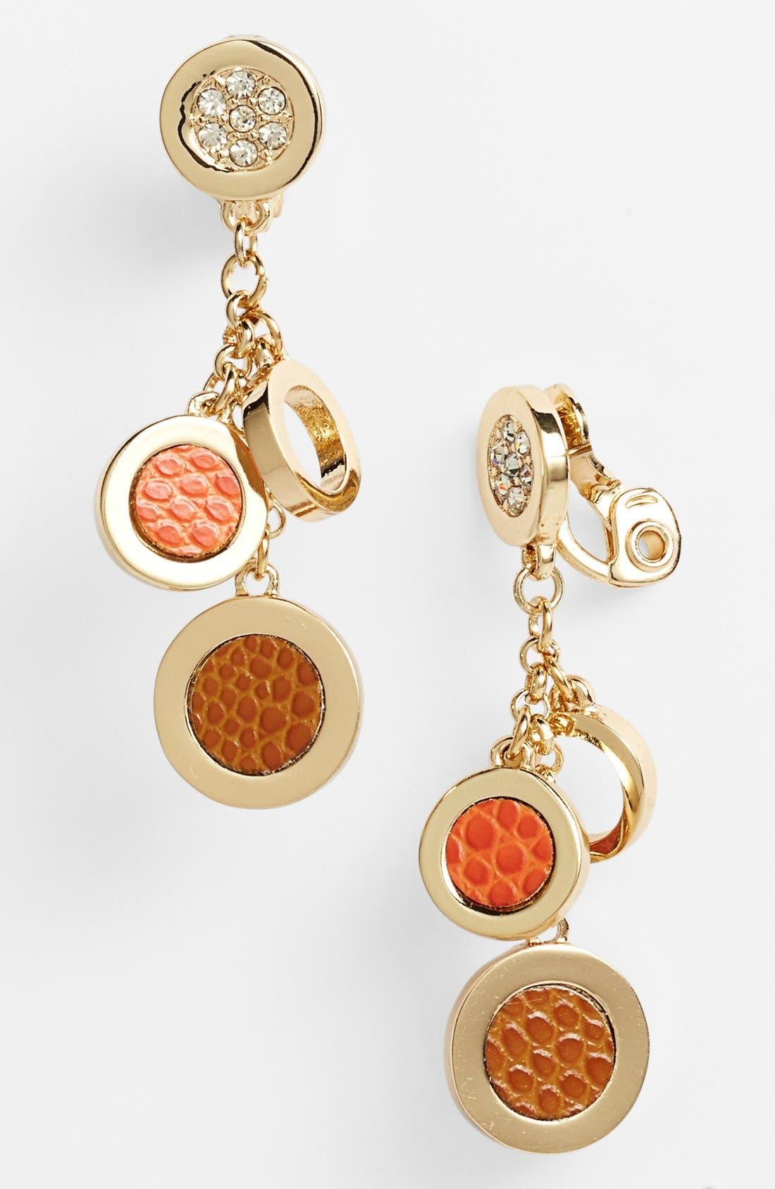 Main Image - Anne Klein Clip Drop Earrings