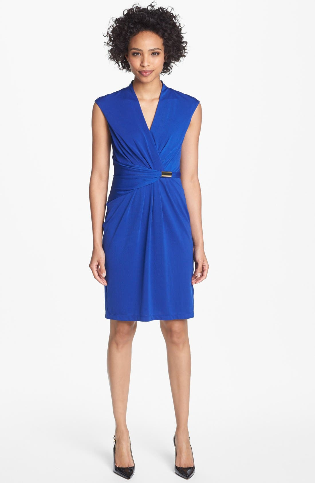Main Image - Ellen Tracy Ruched Jersey Sheath Dress