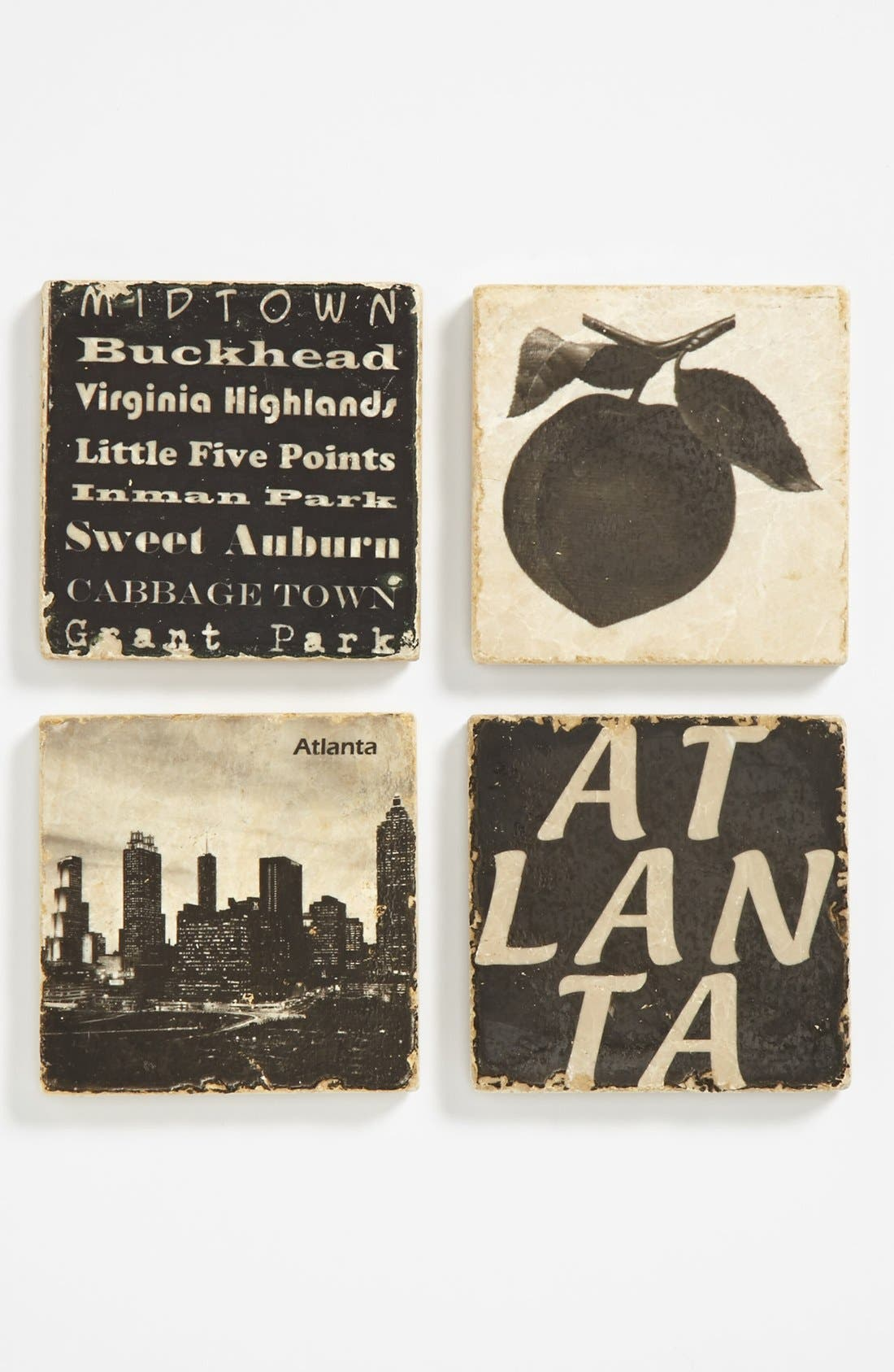 Alternate Image 1 Selected - 'Atlanta' Marble Coasters (Set of 4)