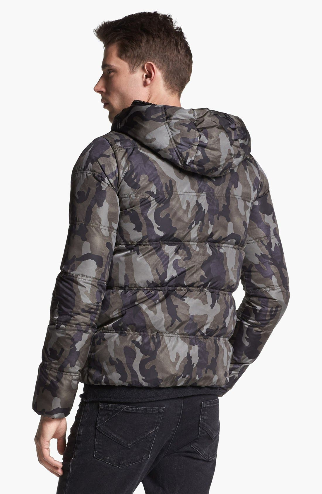 Alternate Image 2  - Duvetica Camo Print Hooded Down Jacket