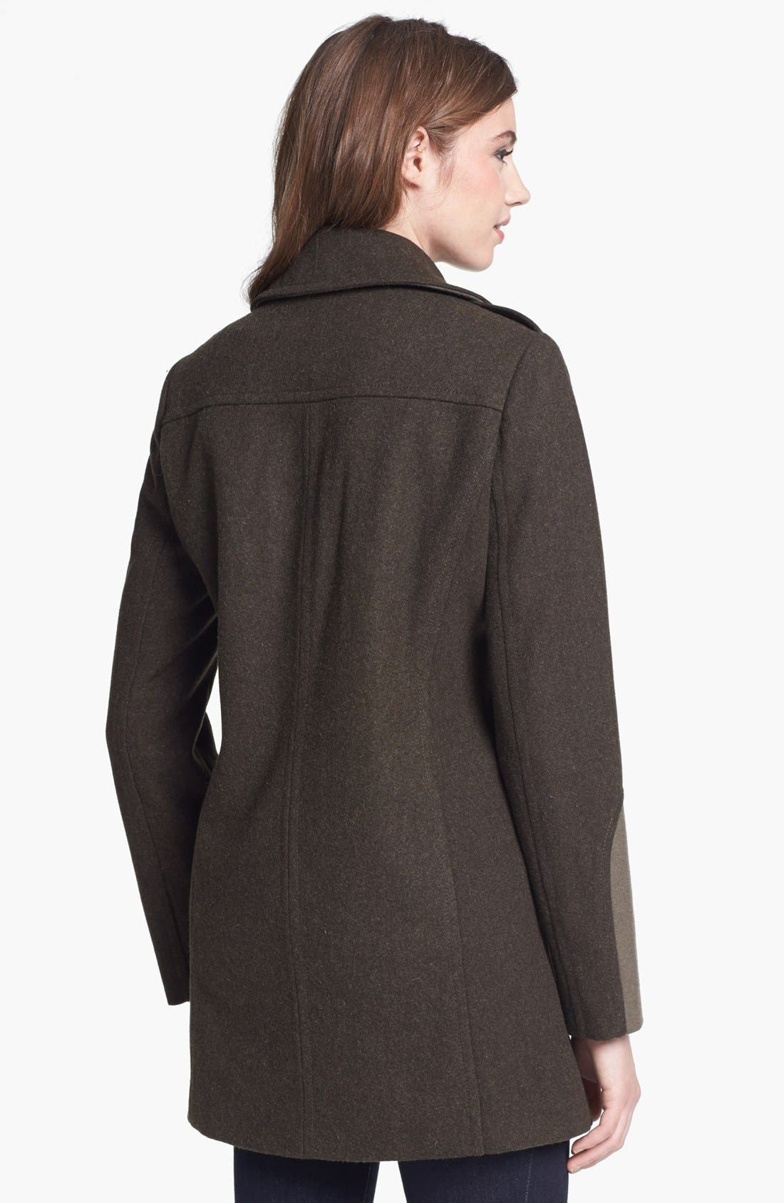 Alternate Image 4  - Kenneth Cole New York Asymmetrical Wool Blend Military Coat