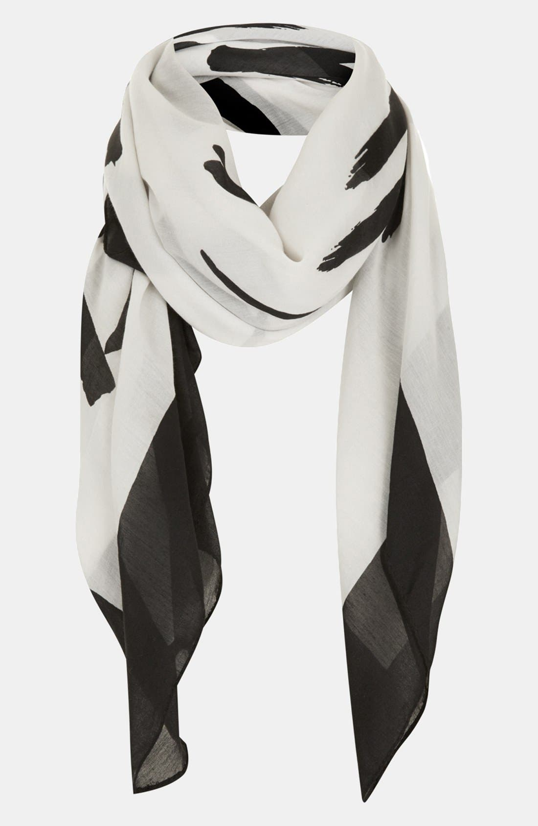 Main Image - Topshop 'Love Is the New Black' Square Scarf