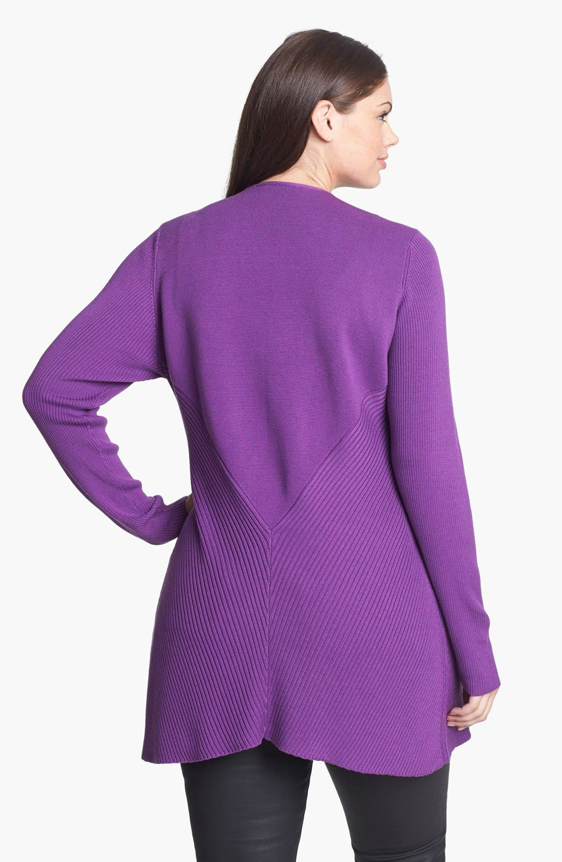 Alternate Image 2  - Eileen Fisher Shaped Silk & Cotton Jacket (Plus Size)