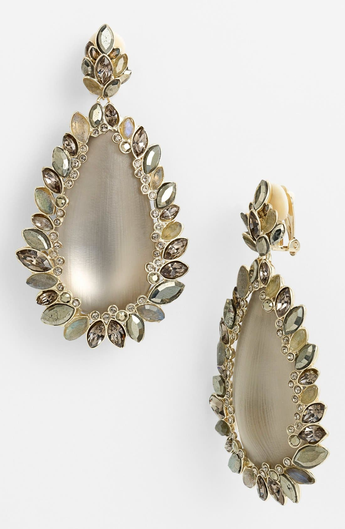 Alternate Image 1 Selected - Alexis Bittar 'Lucite® - Neo Bohemian' Large Drop Clip Earrings