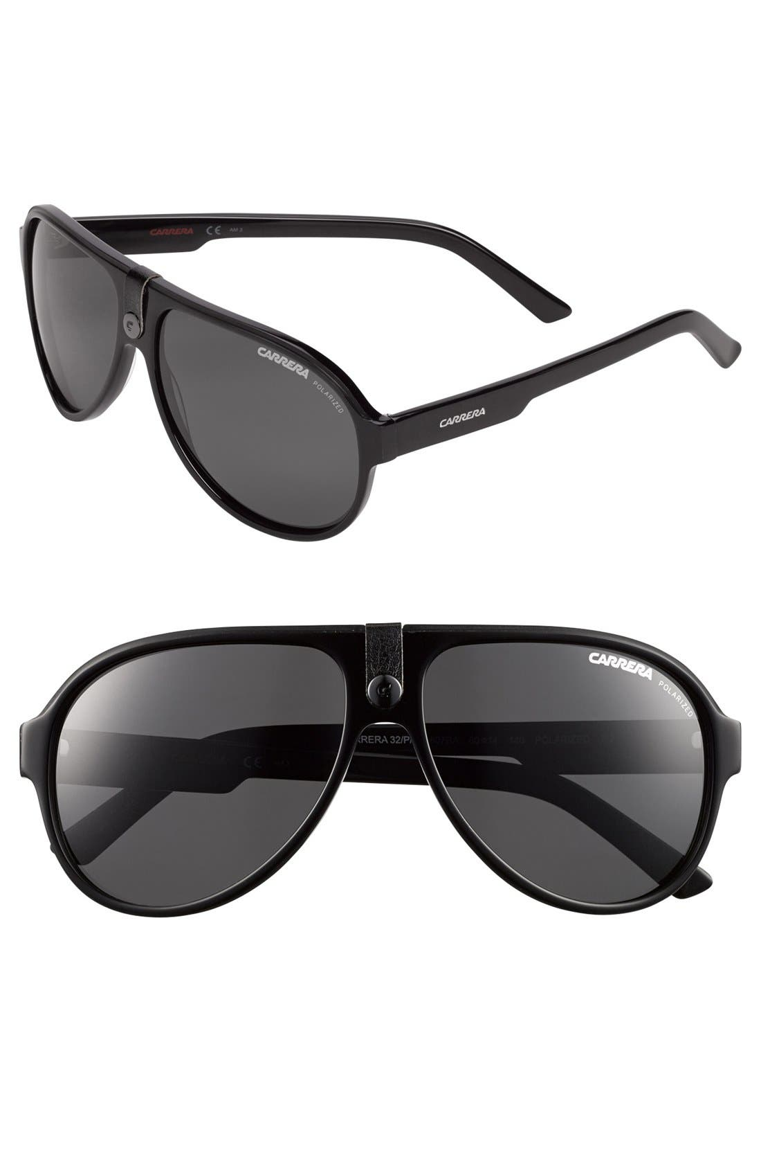 Alternate Image 1 Selected - Carrera Eyewear 'CA32PS' 60mm Polarized Sunglasses