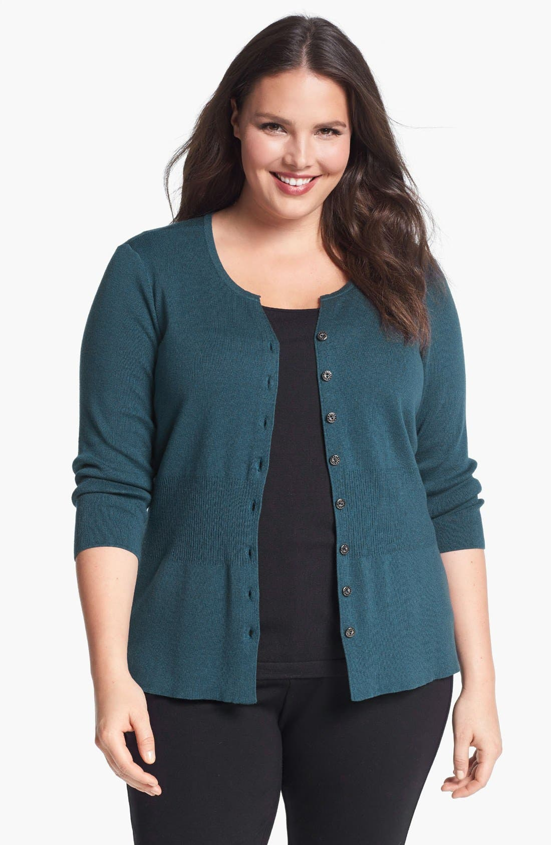 Alternate Image 1 Selected - NIC + ZOE 'Back of the Chair' Cardigan (Plus Size)