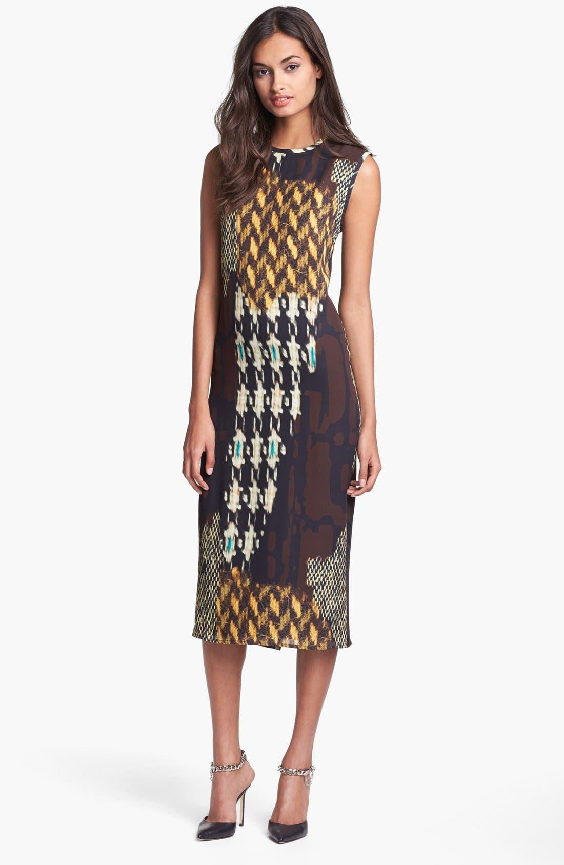 Alternate Image 1 Selected - Trina Turk 'Lottie' Print Midi Dress