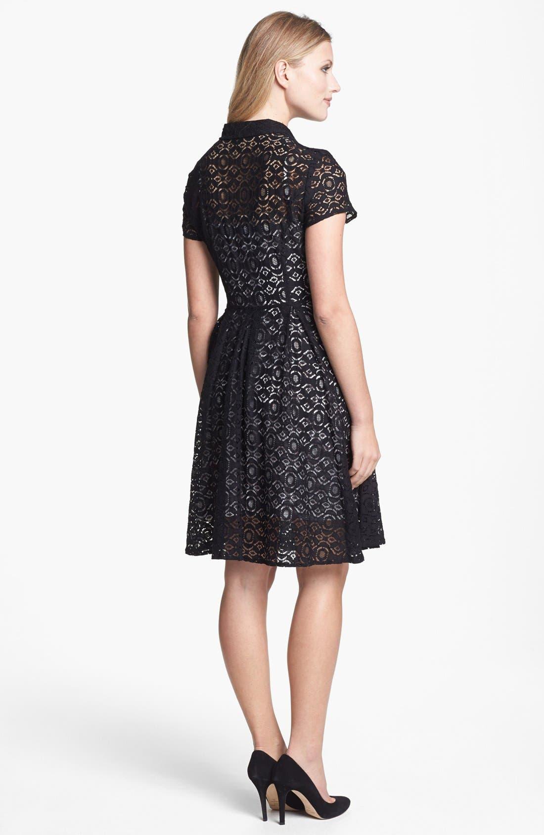 Alternate Image 2  - Chaus Lace Shirtdress