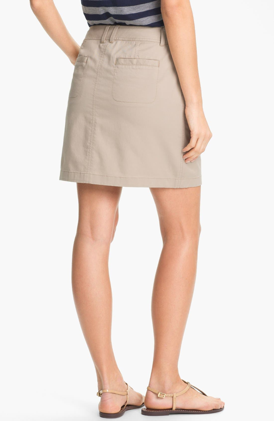 Alternate Image 2  - Caslon® Twill Skirt (Petite)